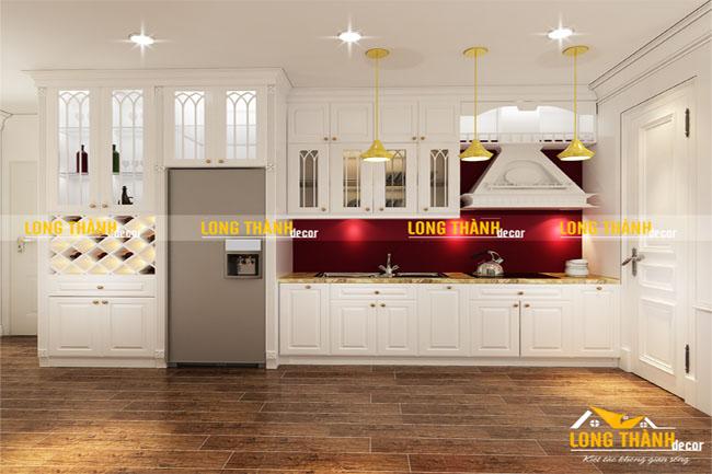 Tủ bếp đẹp cho nhà chung cư LT02