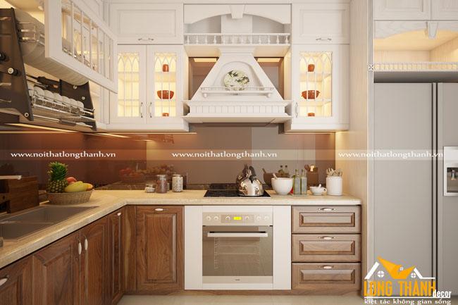 Mẫu thiết kế tủ bếp đẹp cho nhà chung cư LT05