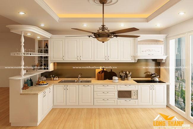 Tủ bếp đẹp cho nhà chung cư LT06