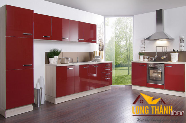 Tủ bếp gỗ Acrylic LT 21