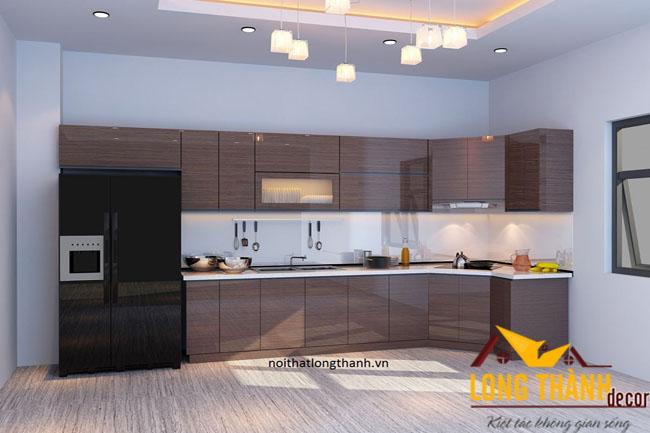 Tủ bếp gỗ Acrylic LT02