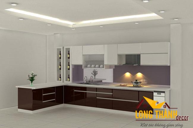 Tủ bếp gỗ Acrylic LT04