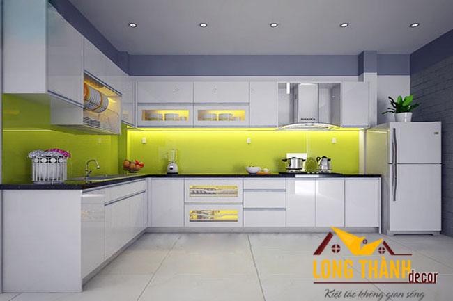 Tủ bếp gỗ Acrylic LT05