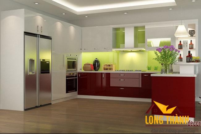 Tủ bếp gỗ Acrylic LT07