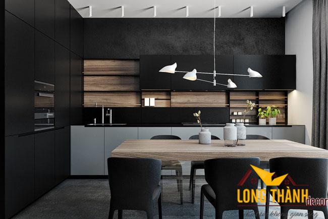 Tủ bếp gỗ Acrylic LT10