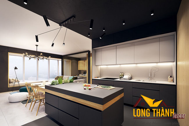 Tủ bếp gỗ acrylic LT11