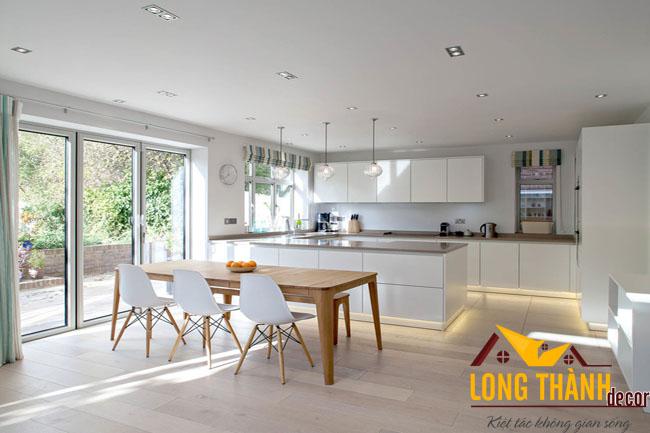 Tủ bếp gỗ acrylic LT12
