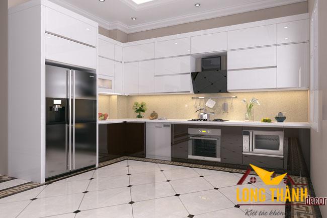 Tủ bếp gỗ Acrylic LT13