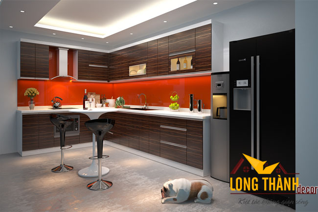 Tủ bếp gỗ acrylic LT14