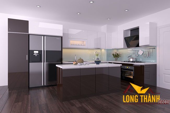 Tủ bếp gỗ Acrylic LT15