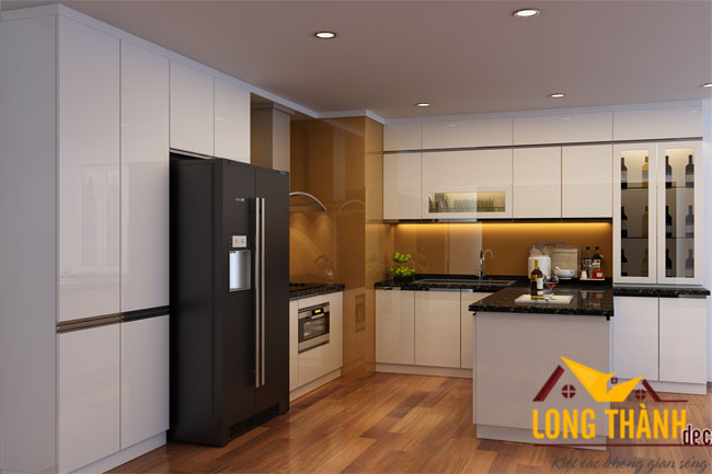 Tủ bếp gỗ acrylic LT16