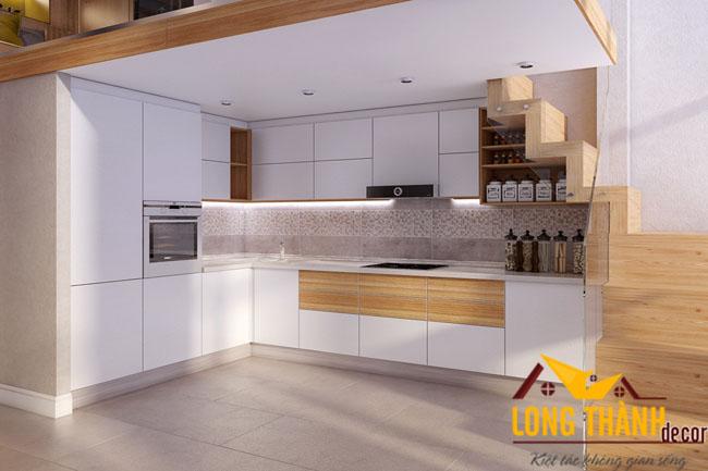 Tủ bếp gỗ acrylic LT17