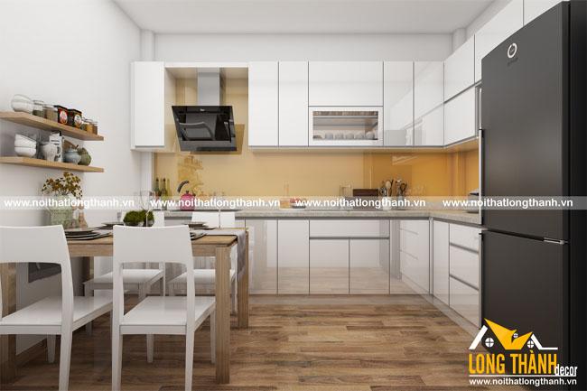Tủ bếp gỗ Acrylic LT18