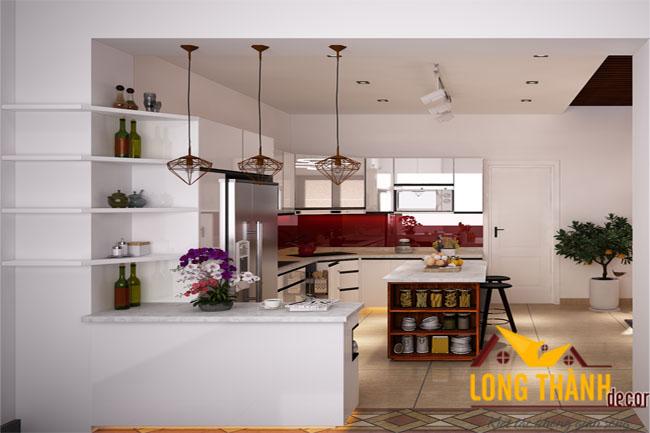 Tủ bếp gỗ Acrylic LT20
