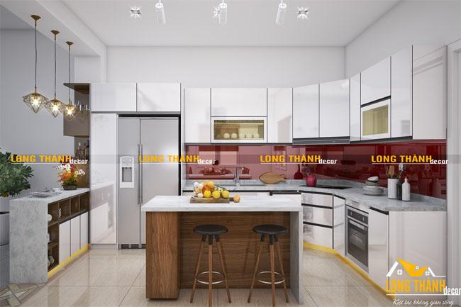 Tủ bếp gỗ Acrylic LT22