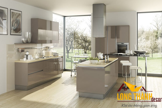 Tủ bếp gỗ Acrylic LT23