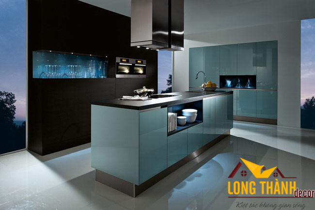 Tủ bếp gỗ Acrylic LT24