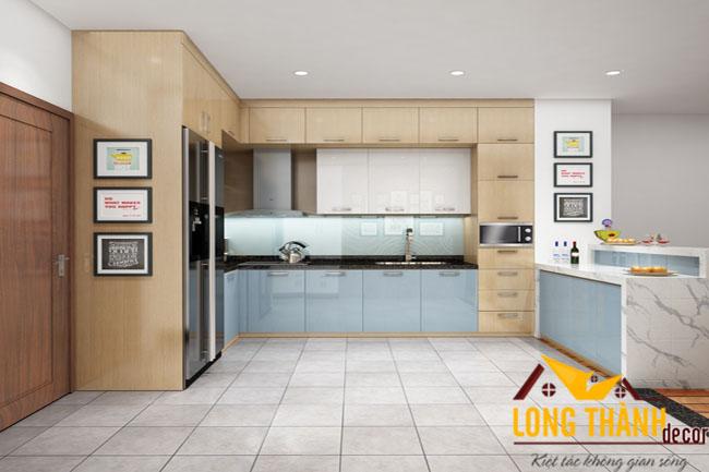 Tủ bếp gỗ Acrylic LT26