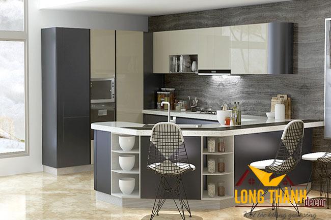 Tủ bếp gỗ Acrylic LT28