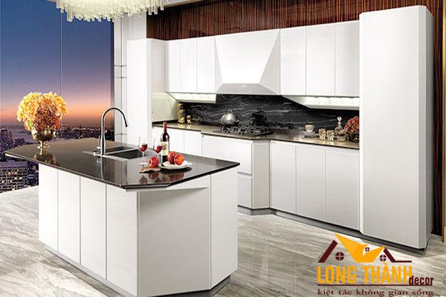 Thiết kế mẫu tủ bếp gỗ Acrylic LT29