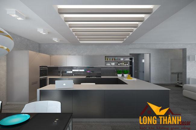 Tủ bếp gỗ Acrylic LT31