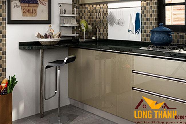 Mẫu thiết kế tủ bếp gỗ Acrylic LT33