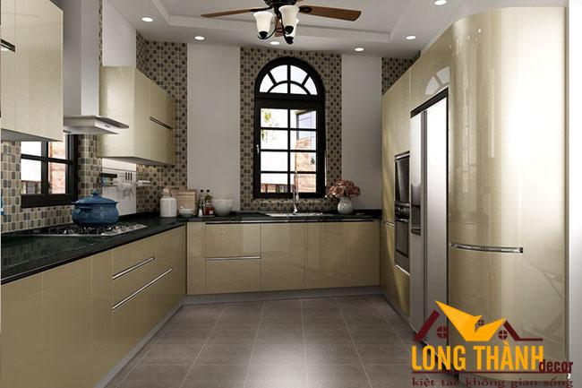 Tủ bếp gỗ Acrylic LT33