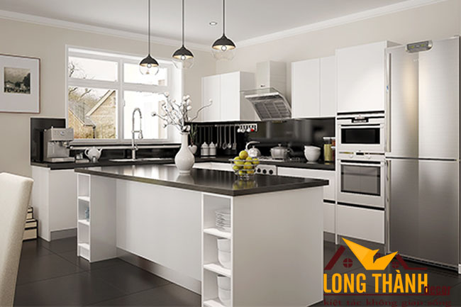 Tủ bếp gỗ Acrylic LT34