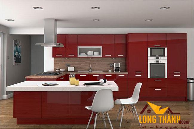Tủ bếp gỗ Acrylic LT37