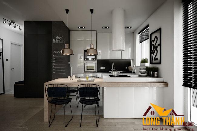 Tủ bếp gỗ Acrylic LT38