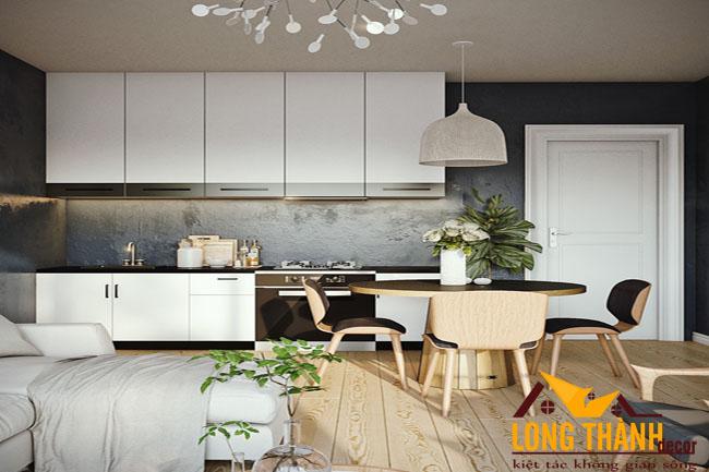 Tủ bếp gỗ Acrylic LT39