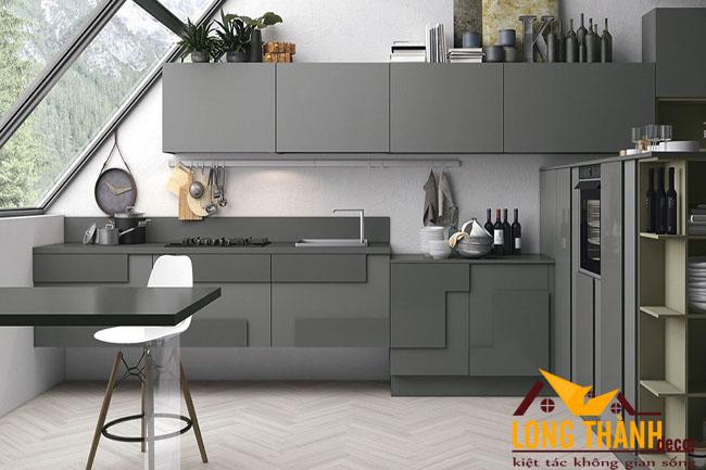Tủ bếp gỗ Acrylic LT41