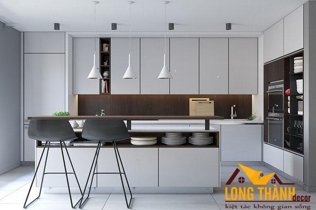 Tủ bếp gỗ Acrylic LT43