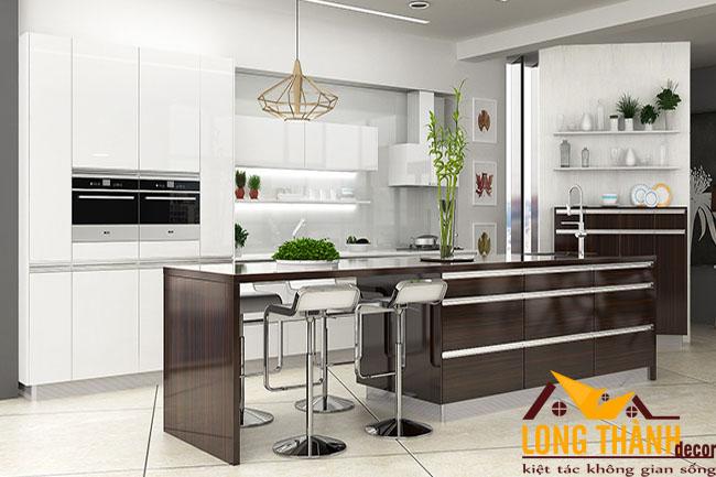 Tủ bếp gỗ Acrylic LT46