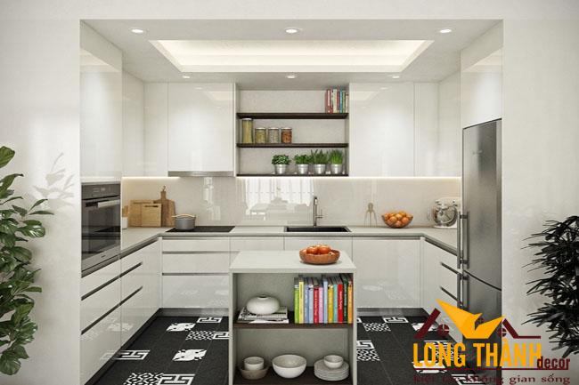 Tủ bếp gỗ Acrylic LT47