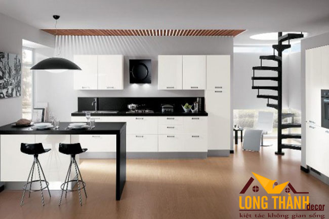 Thiết kế tủ bếp gỗ Acrylic LT49 mới nhất năm 2017