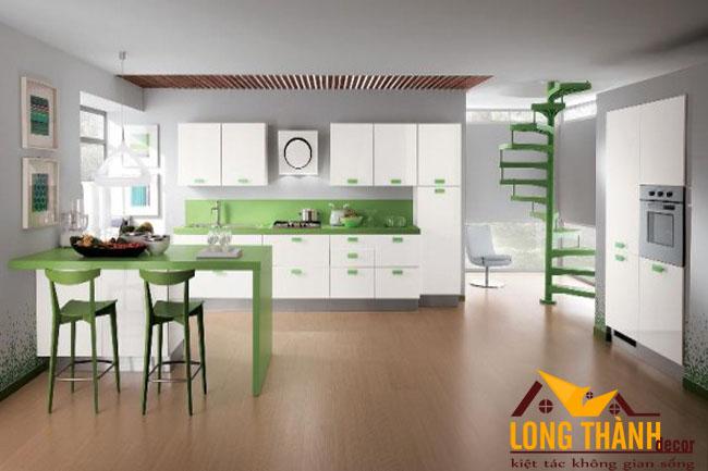Tủ bếp gỗ Acrylic LT49
