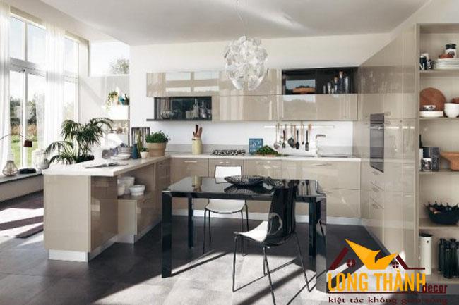 Tủ bếp gỗ Acrylic LT50