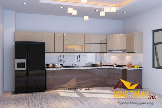 Tủ bếp gỗ Acrylic LT01