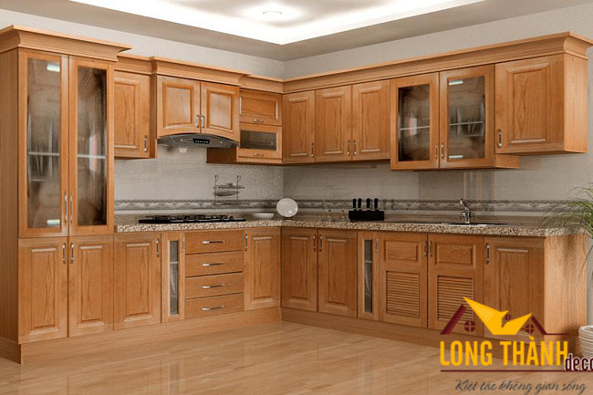 Tủ bếp gỗ Cẩm LT02
