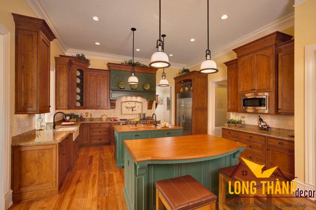 Tủ bếp gỗ Cẩm LT03
