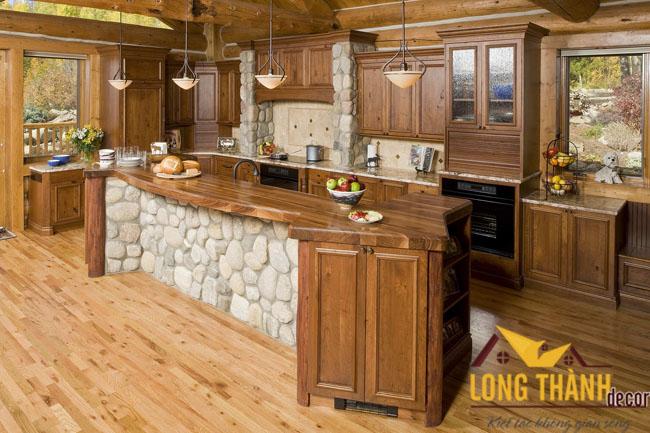 Tủ bếp gỗ Cẩm LT04