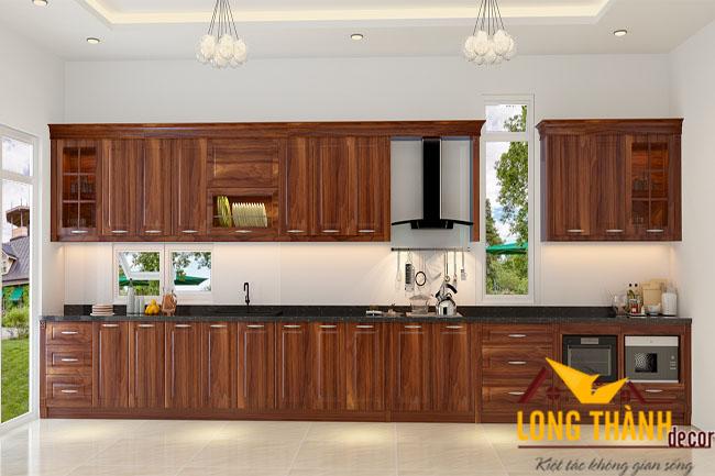 Tủ bếp gỗ Cẩm LT06