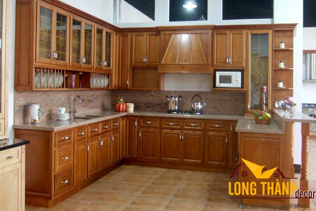 Tủ bếp gỗ Cẩm LT08
