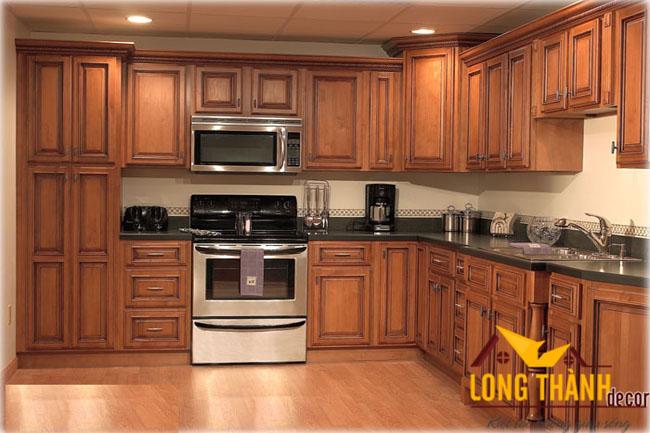 Tủ bếp gỗ cẩm LT01