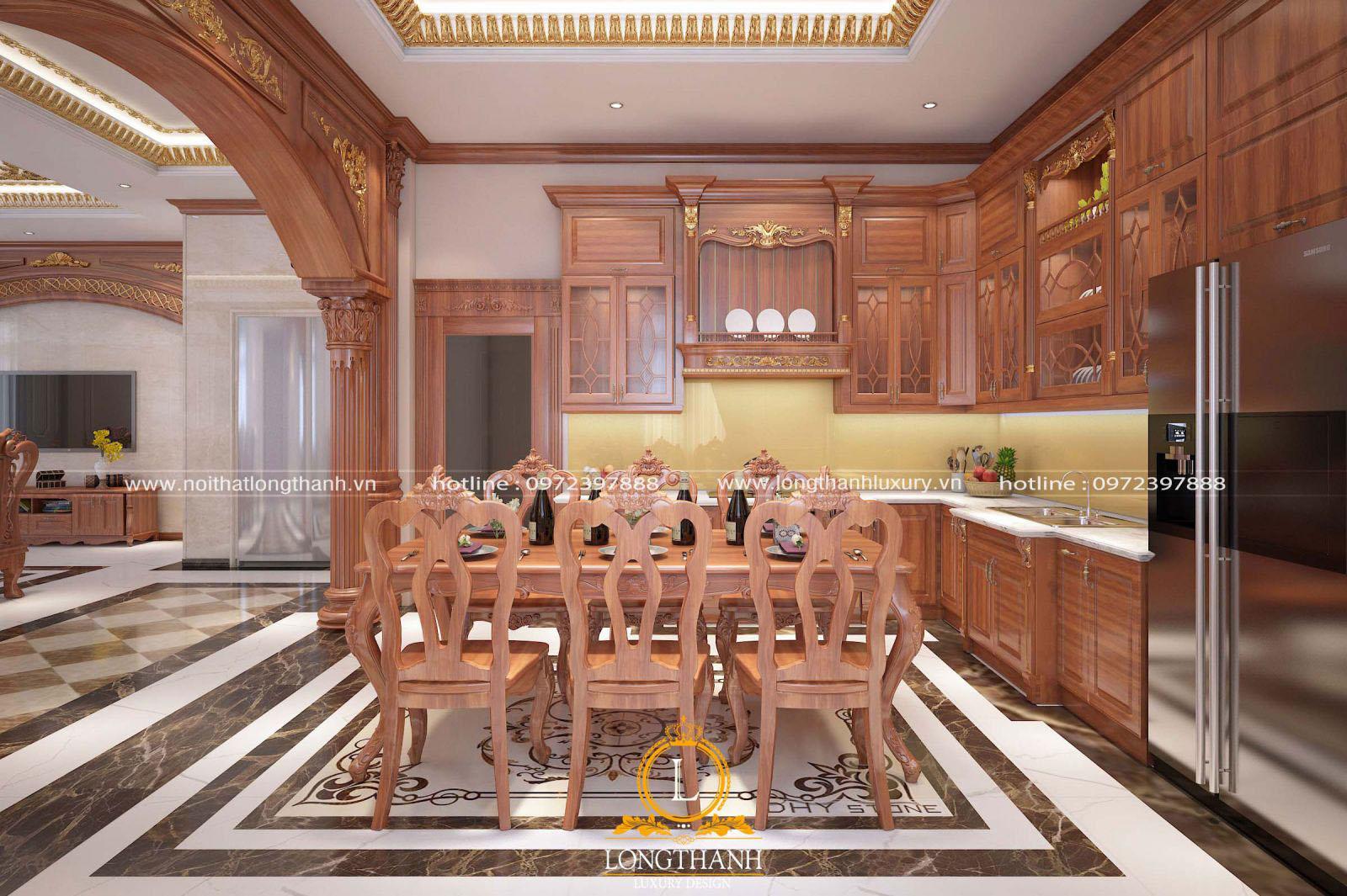 Tủ bếp gỗ tự nhiêncó giá trị bền vững lâu dài với thời gian