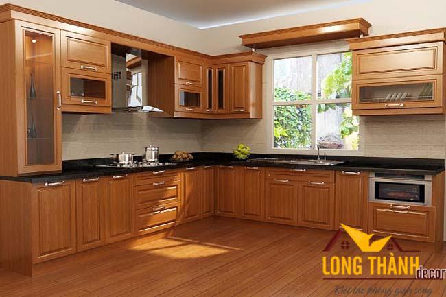 Tủ bếp gỗ gõ LT01
