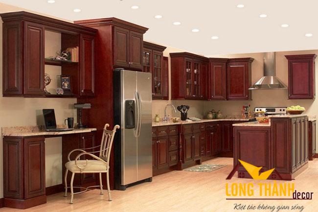 Tủ bếp gỗ Gõ LT04