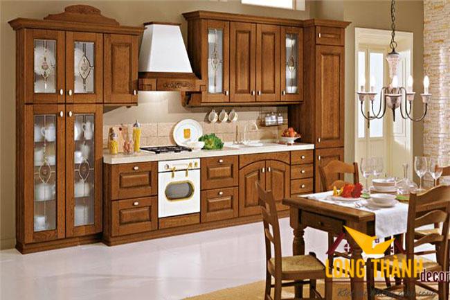 Tủ bếp gỗ Gõ LT05