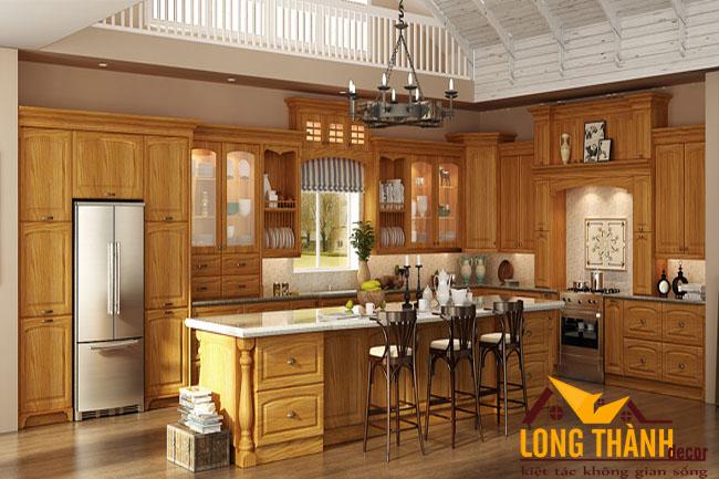 Tủ bếp gỗ Gõ LT14